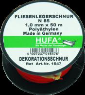 Fliesenlegerschnur grün/weiß 1,0 mm x 50 m